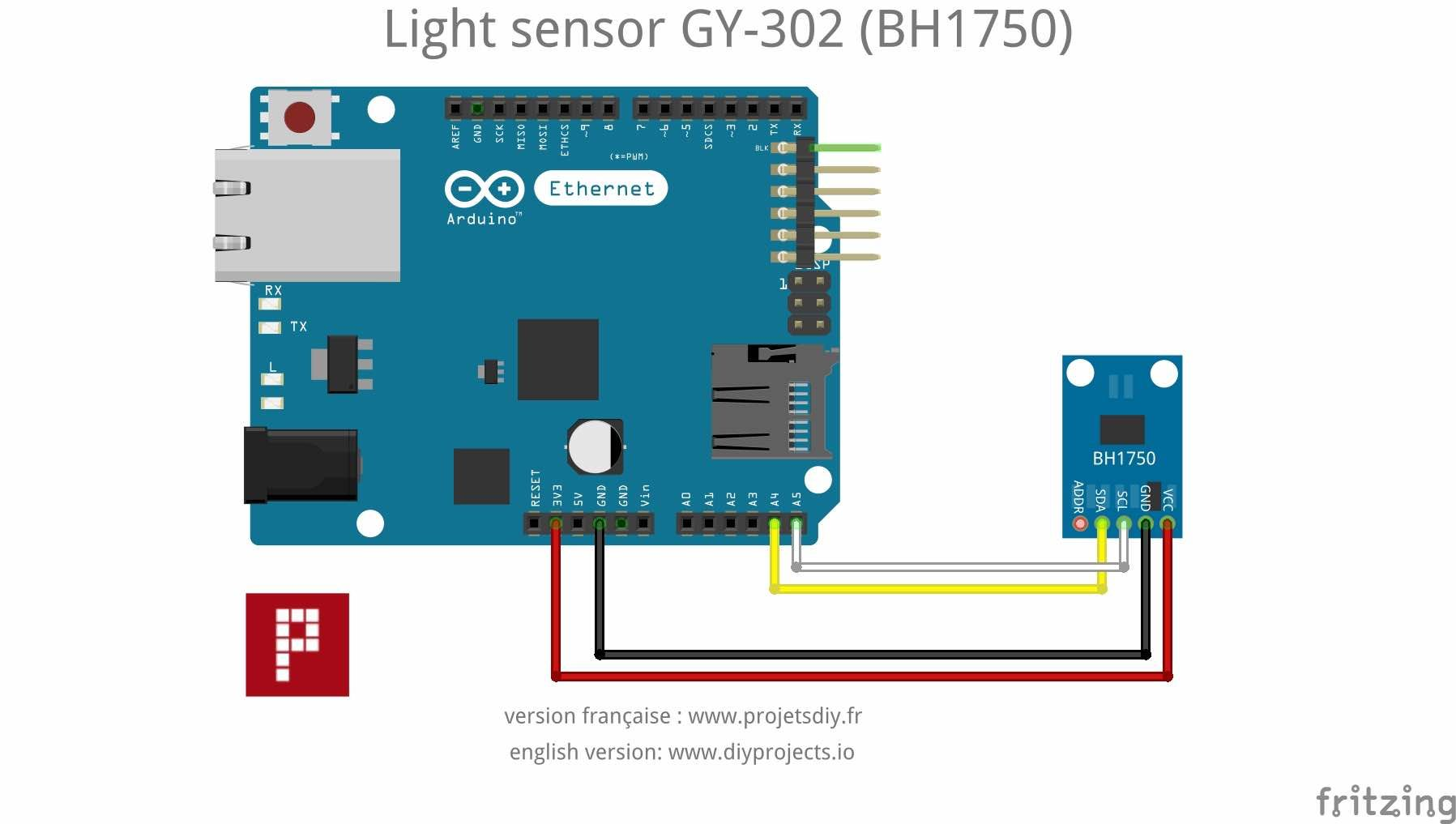 Bh1750 Gy 302 Measure The Lighting Quality Of Your Home Arduino Audio Receiver 433 Mhz Rf Module Using Circuit Diagram Nonstop Free In Brightness Sensor And An Esp8266 Or Esp32