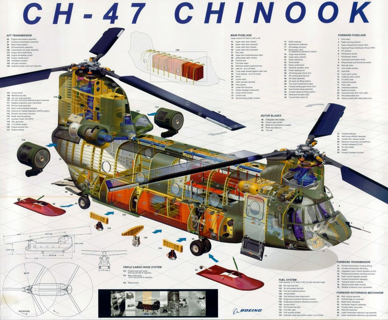 hight resolution of ch 47 chinook cutaway by boeing