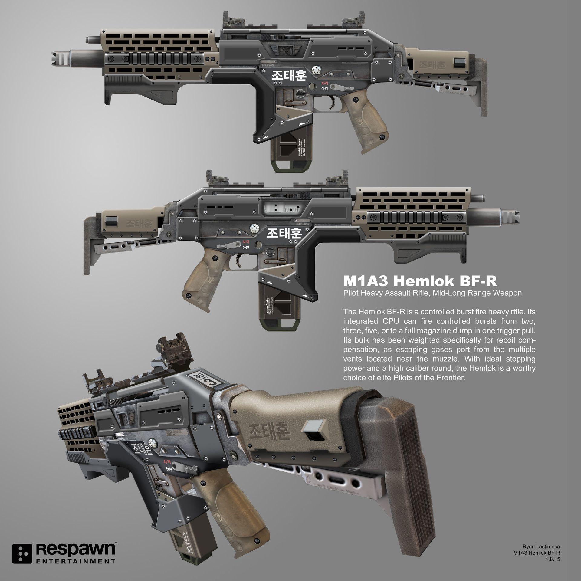 ArtStation - Titanfall 2 M1A3 Hemlok BF-R, Ryan Lastimosa ...
