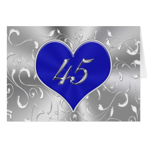 45 Wedding Anniversary Gift For Parents: Inexpensive Blue 45th Wedding Anniversary Cards
