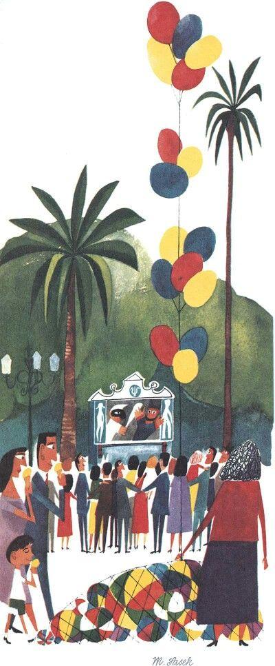 The Style Of Illustrator Miroslav Sasek Art Vintage Illustration Art Design