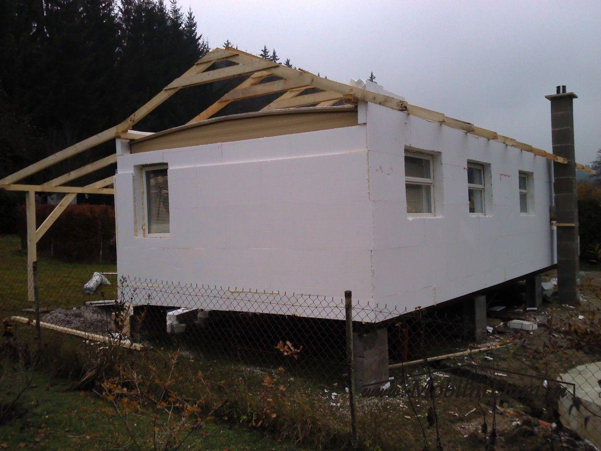 mobilheimy zateplené celoroční Mobile home roof, Mobile