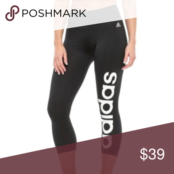 90ac3282c84e Adidas Cropped Yoga Pants NWT Brand New with tags from Adidas. Black cropped  yoga pants with white Adidas lettering on the leg!