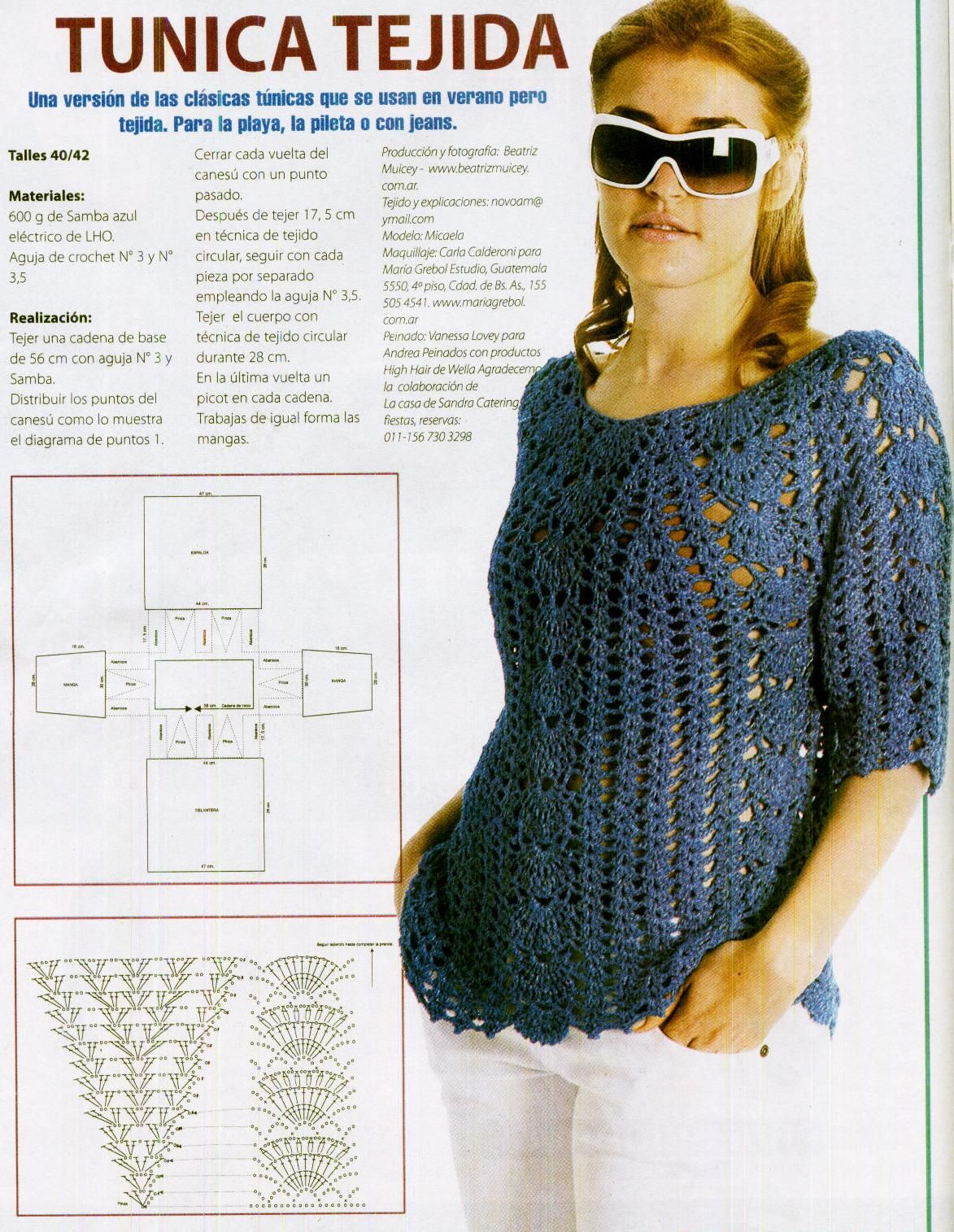 Túnica.JPG (1173×1515) | amor | Pinterest | Túnicas, Crochet ...