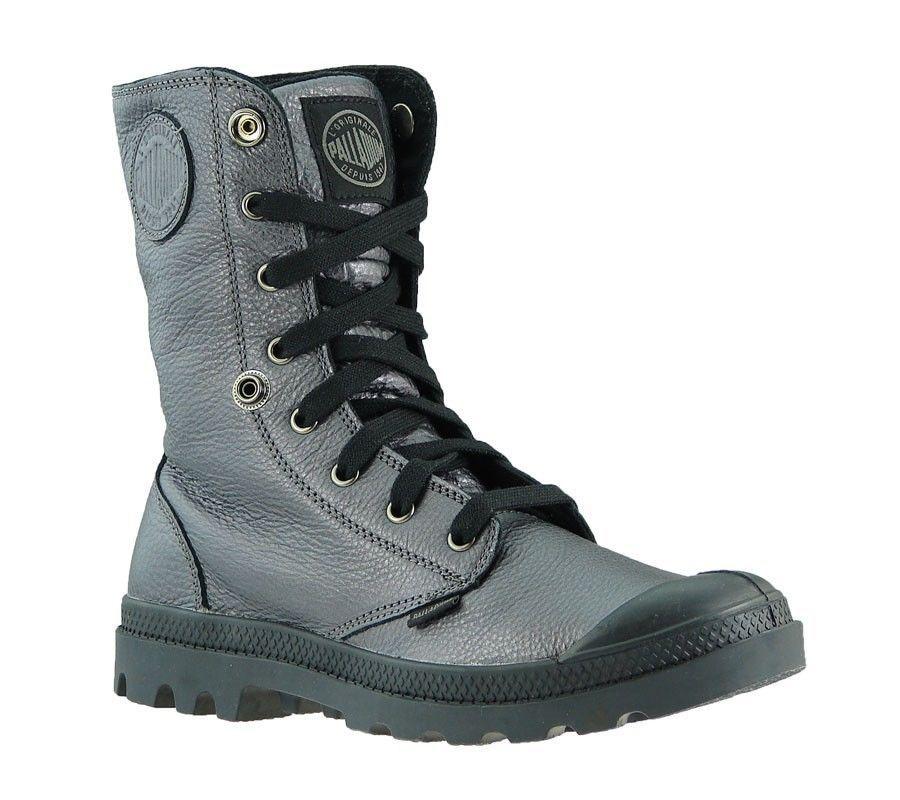 NEW Palladium women´s Boots Baggy Metallic Lea 93455-063-M Leather Gray Sale