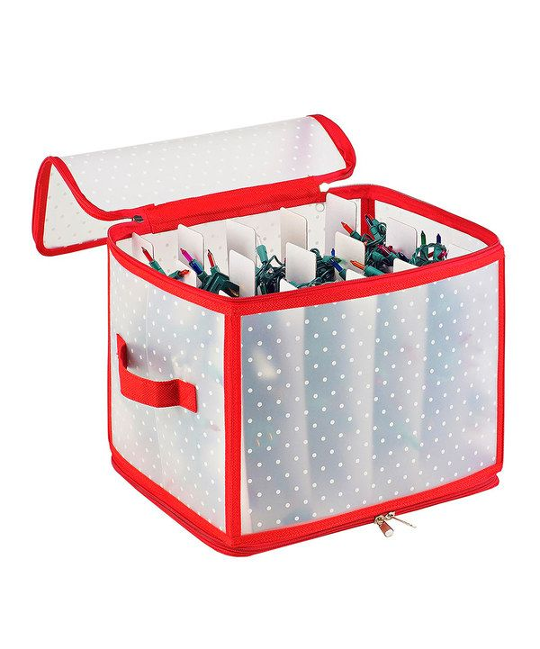 Look At This Light Storage Box With Built In Winderes On Zulily Today Storage Box Cube Storage Ornament Storage
