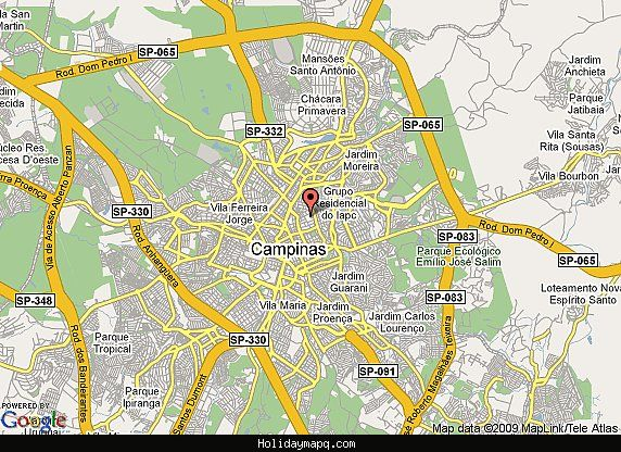 Nice Campinas Map Tourist Attractions Holidaymapq Pinterest - Campinas map