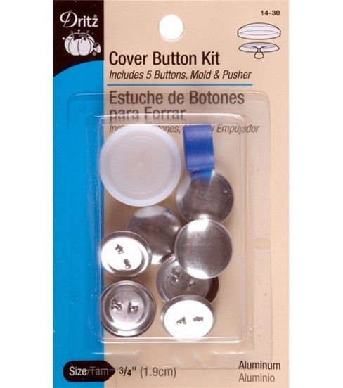 Dritz 1 5 Aluminum Cover Button Kit Size 60 Covered Buttons How To Make Buttons Tufting Buttons