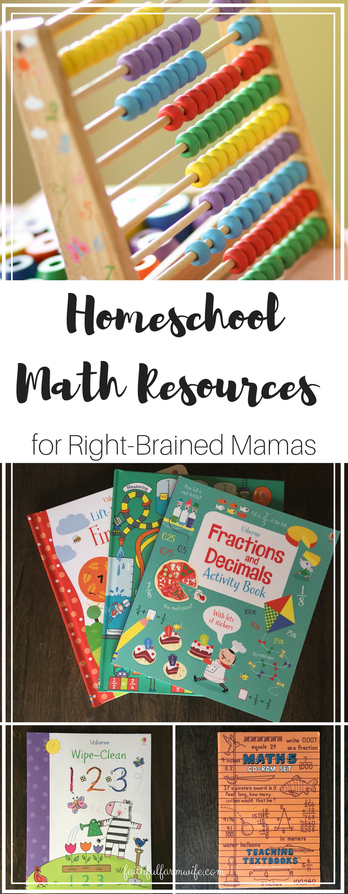 Teaching math at home can be a struggle for a right-brained mama like me so I put together a list of homeschool math resources that can help us all out.