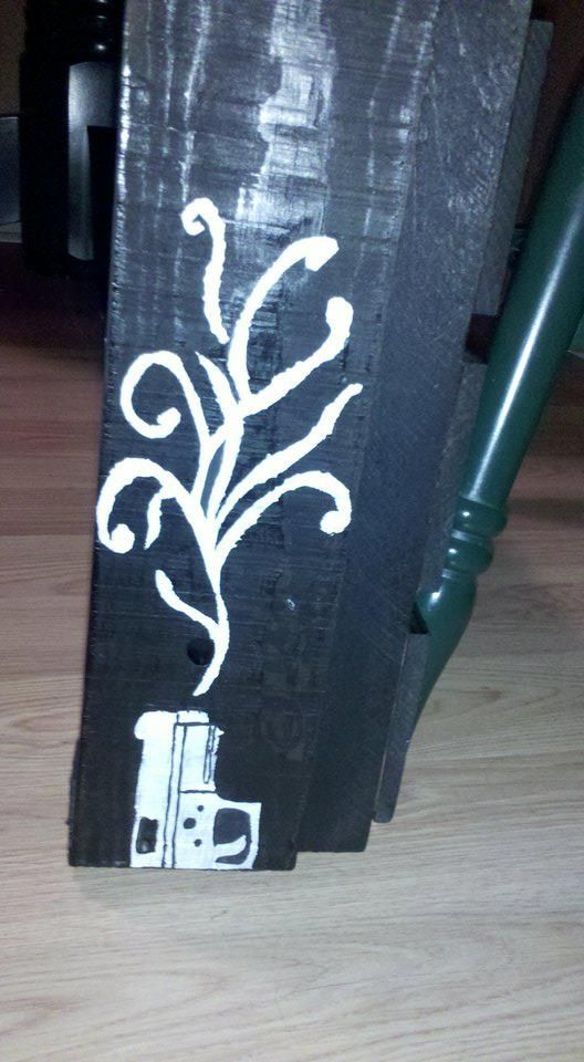 Made this stencil for my jewelry box.