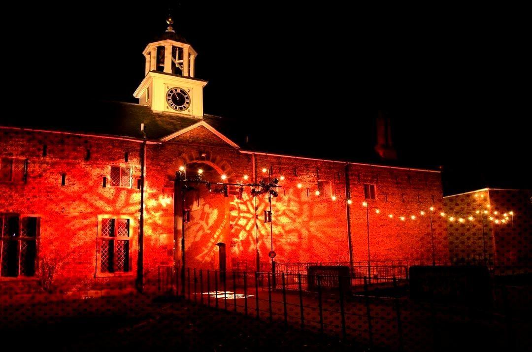 Christmas light show at Dunham Massey