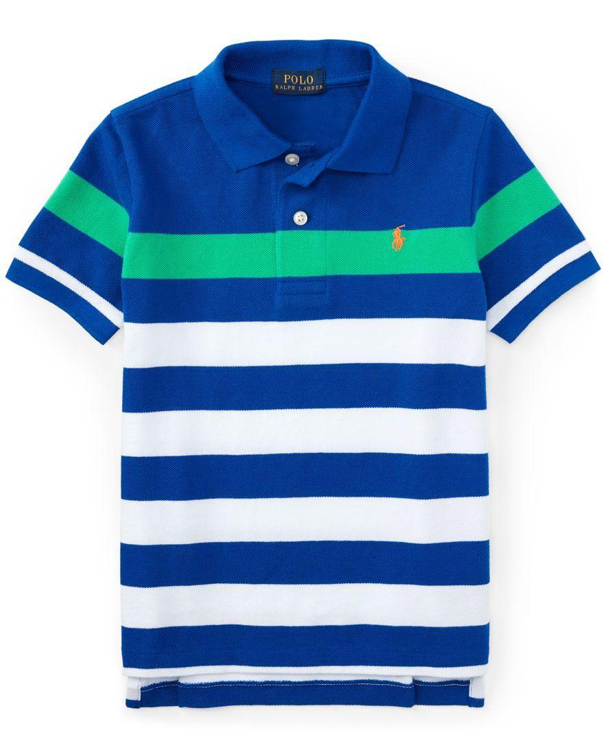 Ralph Lauren Little Boys Striped Polo Shirt Polos Striped Polo