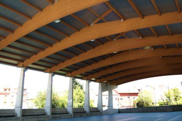 La madera laminada encolada para la formaci n de vigas de grandes luces proyectos madera - Cubiertas de madera laminada ...