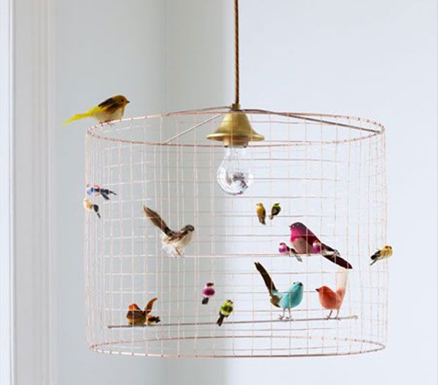 vogelk figlampe zum selbermachen in 2018 art diys pinterest alte lampenschirme bunten. Black Bedroom Furniture Sets. Home Design Ideas