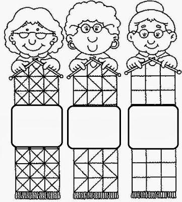 knitting nannas - colouring page | drawings | Pinterest ...