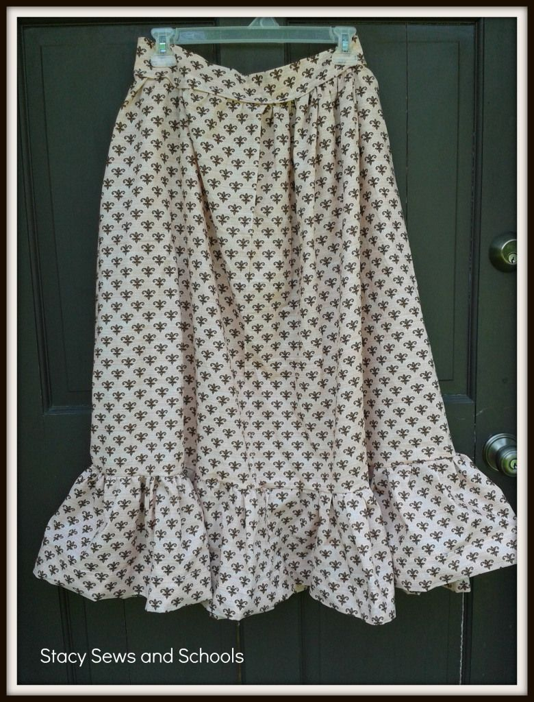 Fleur de Lis Maxi Skirt Tutorial | Fabric & Sewing DIY | Pinterest