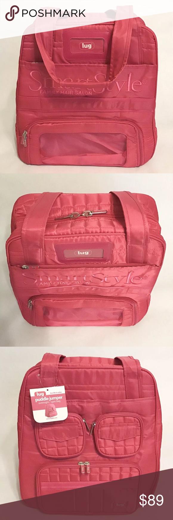 Lug Puddle Jumper Smart Style Logo Pink Gym Bag Nwt Pink Gym Bags Pink Gym Smart Styles