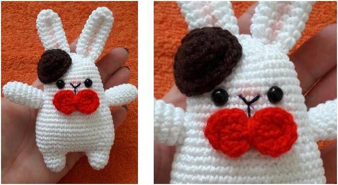 Adorable Crocheted Gentleman Bunny Free Crochet Pattern Bunny