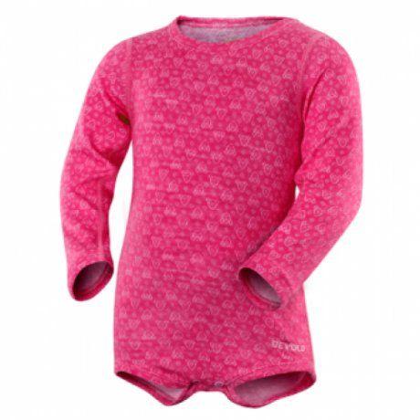 Devold Dívčí termo body Active Baby - růžové