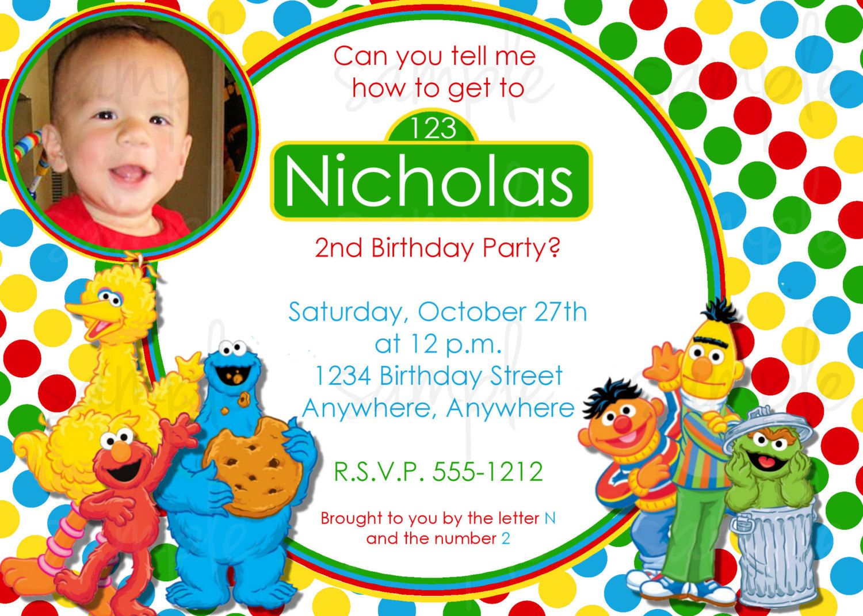 Sesame street birthday invitations nz new invitations pinterest sesame street birthday invitations nz stopboris Image collections