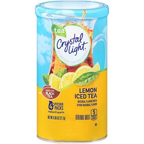Crystal Light Drink Mix Lemon Iced Tea Pitcher Packets Https Www Amazon Com Dp B003dnl9pq Ref Cm With Images Crystal Light Drink Mix Flavored Tea Crystal Lighting