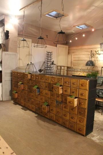 ancien meuble de quincaillerie am nagement atelier products i love pinterest amenagement. Black Bedroom Furniture Sets. Home Design Ideas