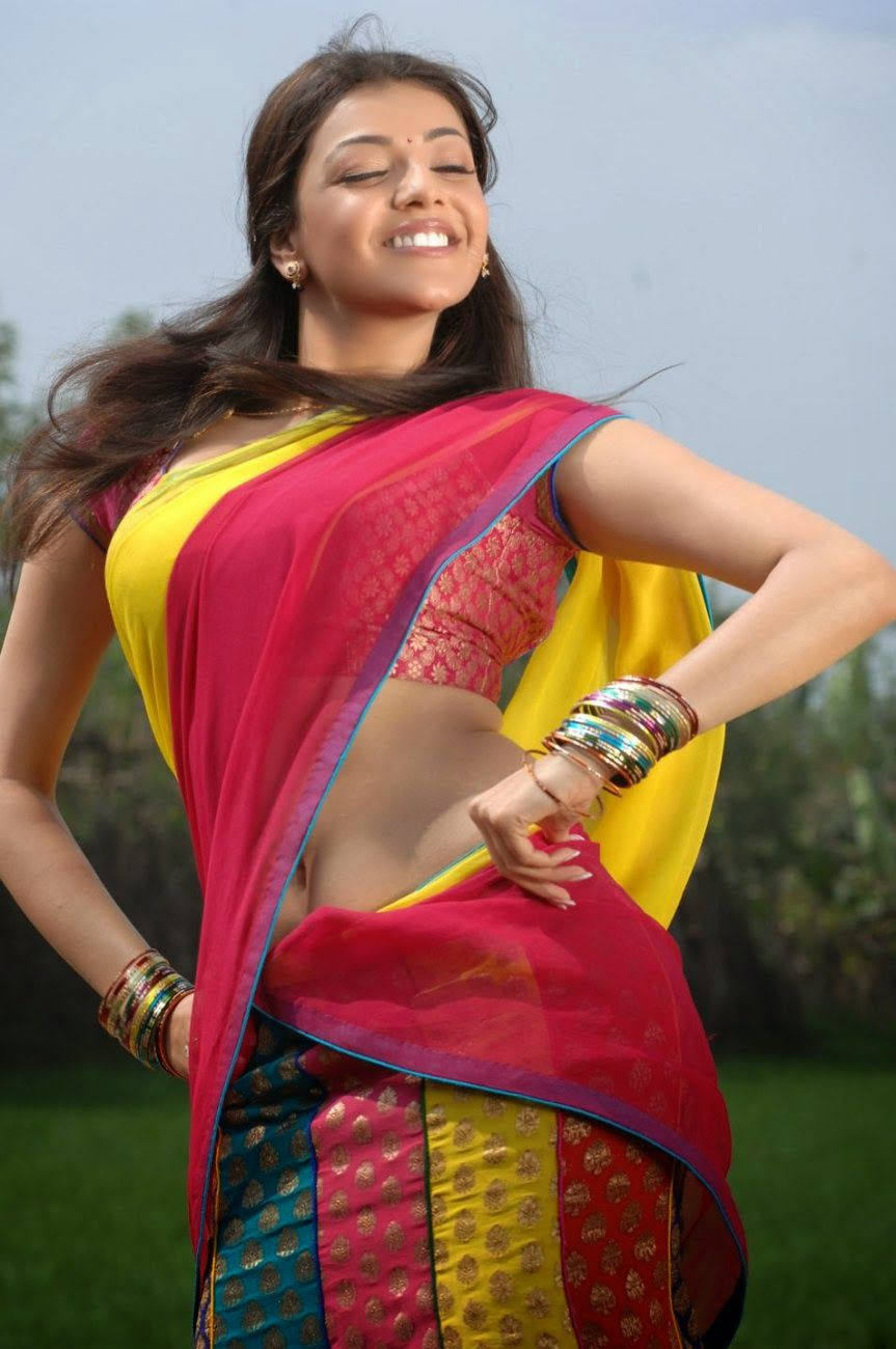 kajal agarwal in hot saree wallpaper | hdkoi adda | pinterest
