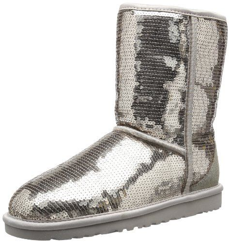 silver 5 Boots Classic Australia Short Ugg Sparkles Women's Winter wCaq0fA