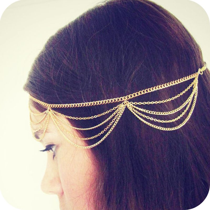 Fashion lady women jewelry hair accessory personality alloy tassel chain multi-layer hair band SHR199 - http://www.aliexpress.com/item/Fashion-lady-women-jewelry-hair-accessory-personality-alloy-tassel-chain-multi-layer-hair-band-SHR199/1542163751.html