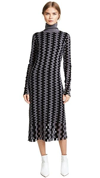 a35593d5d5e2 DIANE VON FURSTENBERG TURTLENECK KNIT MIDI DRESS.  dianevonfurstenberg   cloth