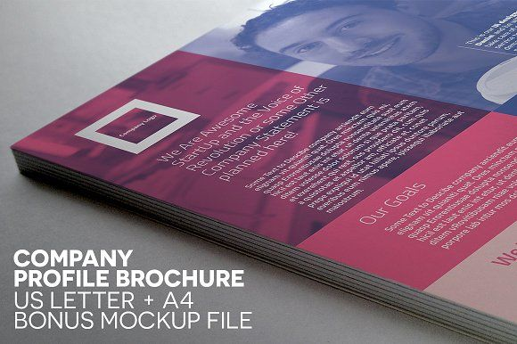 Compact Single Page Brochure By Indiestock On Creativemarket A4