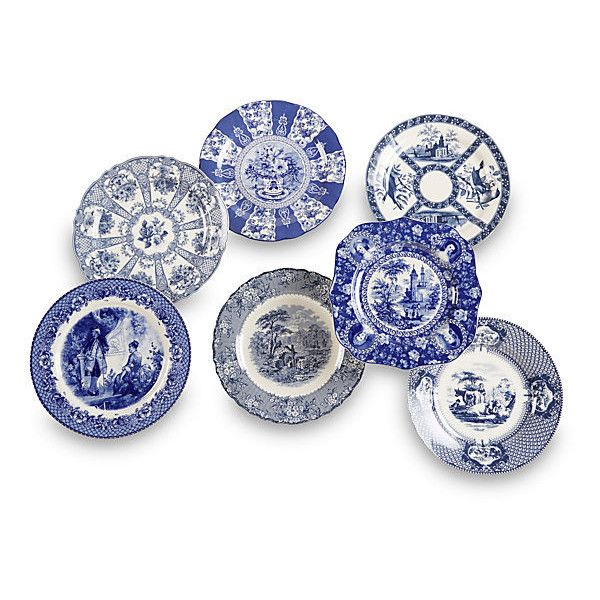 Set of 7 Porcelain Plates Blue/White Decorative Plates (145 AUD) ? liked on Polyvore featuring home home decor decorative accessories blue and white ...  sc 1 st  Pinterest & Set of 7 Porcelain Plates Blue/White Decorative Plates (145 AUD ...