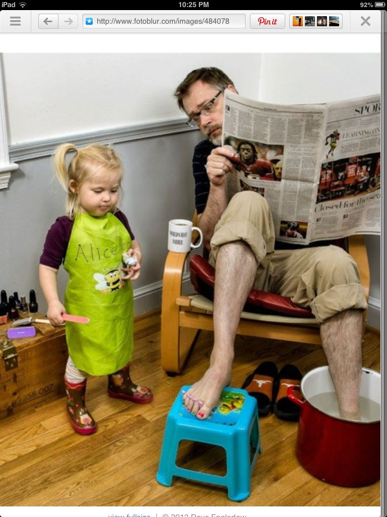 "This guy's father/daughter pictures are the funniest thing ever. Sparks creativity father daughter time - priceless. ""Spa Day"" by Dave Engledow"