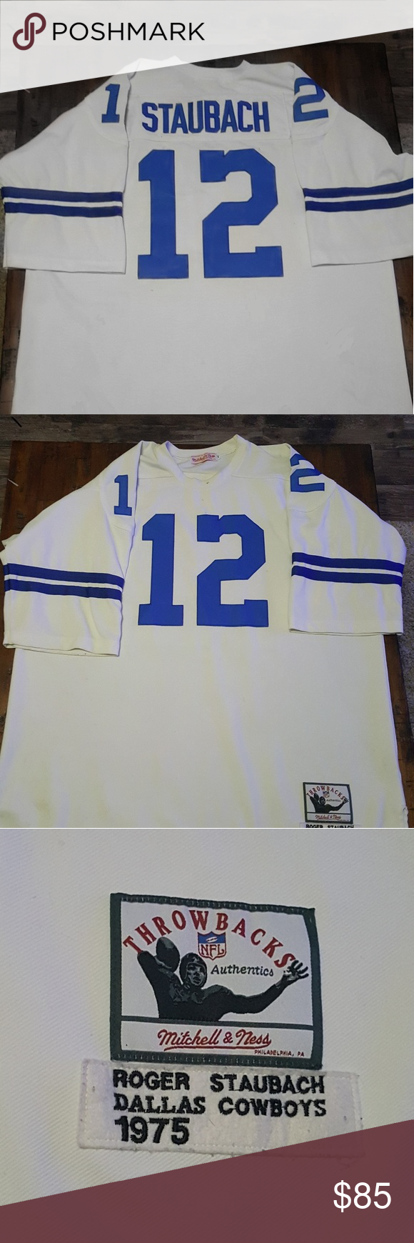 save off 71ec1 01203 Roger Staubach Jersey Authentic 1975 Mitchell and Ness Roger ...