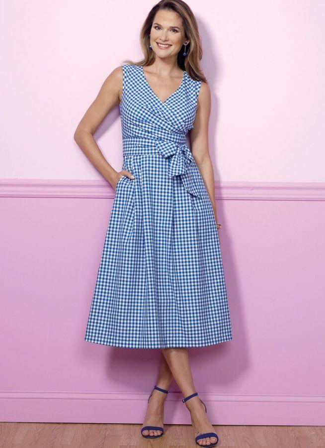 B6446 Butterick Schnittmuster Kleid in Wickeloptik | Pinterest ...