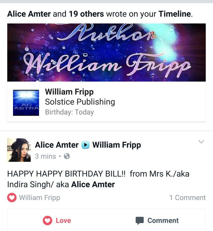 Pin By William Fripp On Alice Amter Happy Birthday Bill Happy