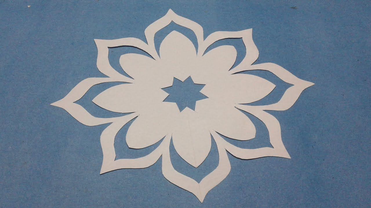How To Make Simple Easy Paper Cutting Flow Er Designs Paper