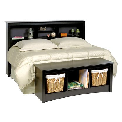 Pin On Bedroom Storage, Headboard With Matching Storage Bench