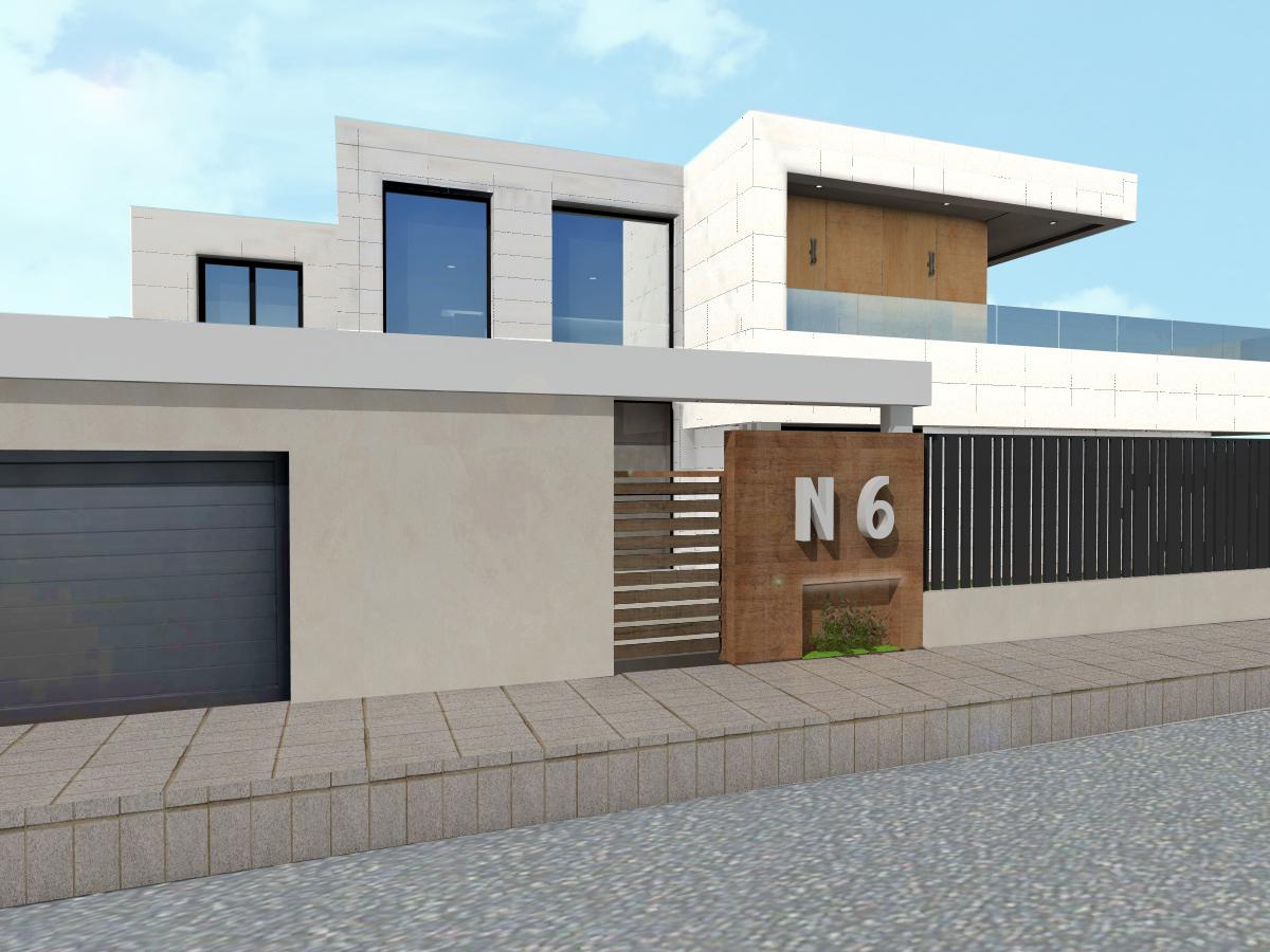 Dise o de valla y entrada principal proyecto vivienda - Vallas para casas ...