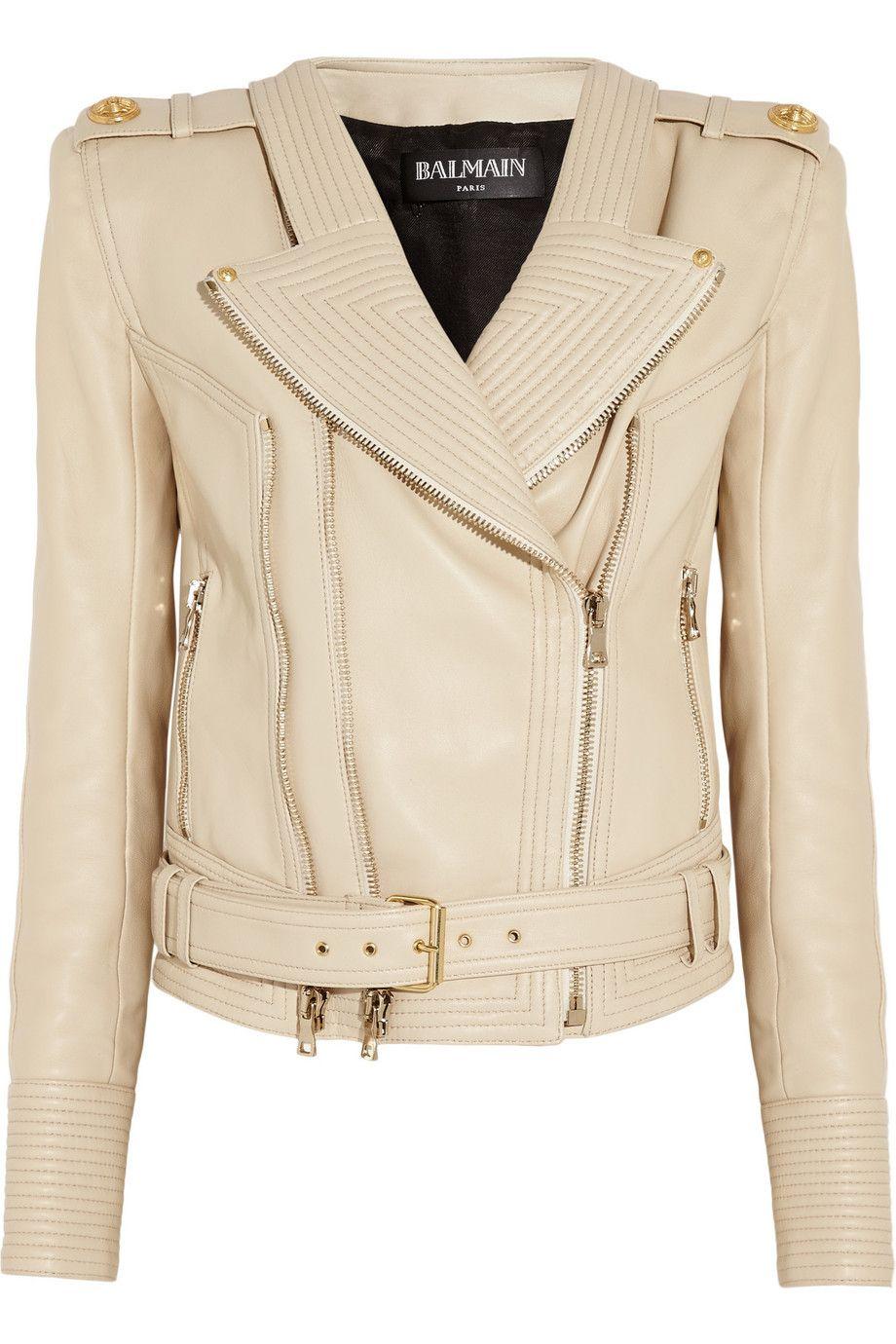 Balmain Balmain Leather Jacket Ribbed Leather Jacket Leather Jackets Women [ 1380 x 920 Pixel ]