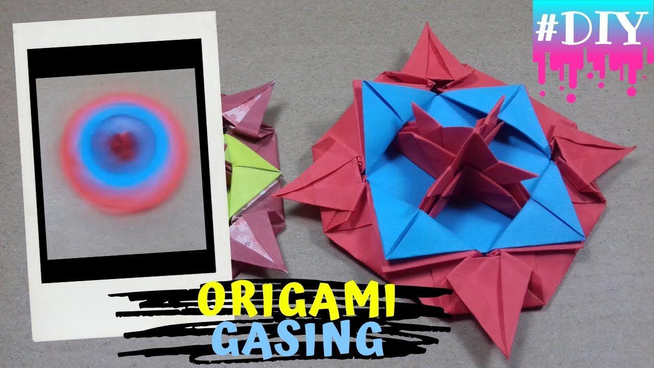 Ayo Kita Simak Cara Membuat Gangsing Dari Kertas Origami Pada Video Origami Gasing Kali Ini Kita Akan Memakai Kertas Origami Ka Origami Kertas Origami Gasing