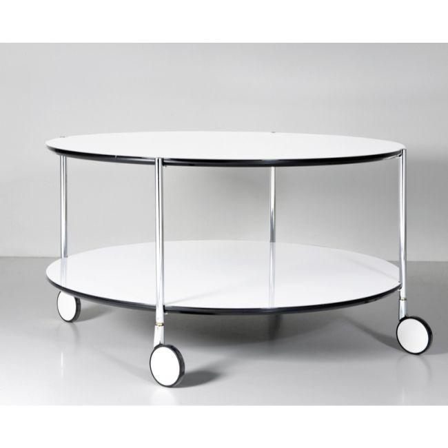 Vackert soffbord i läcker kontinental design på hjul Living room Soffbord, Soffbord med