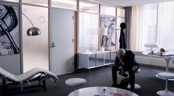 roger sterling office art. roger sterlings office with an le corbusier lc4 chaise longue saarinen table and stools sterling art