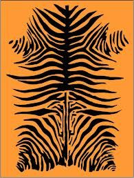 Tiger Stripe Stencil For Rug Or Wall Mural
