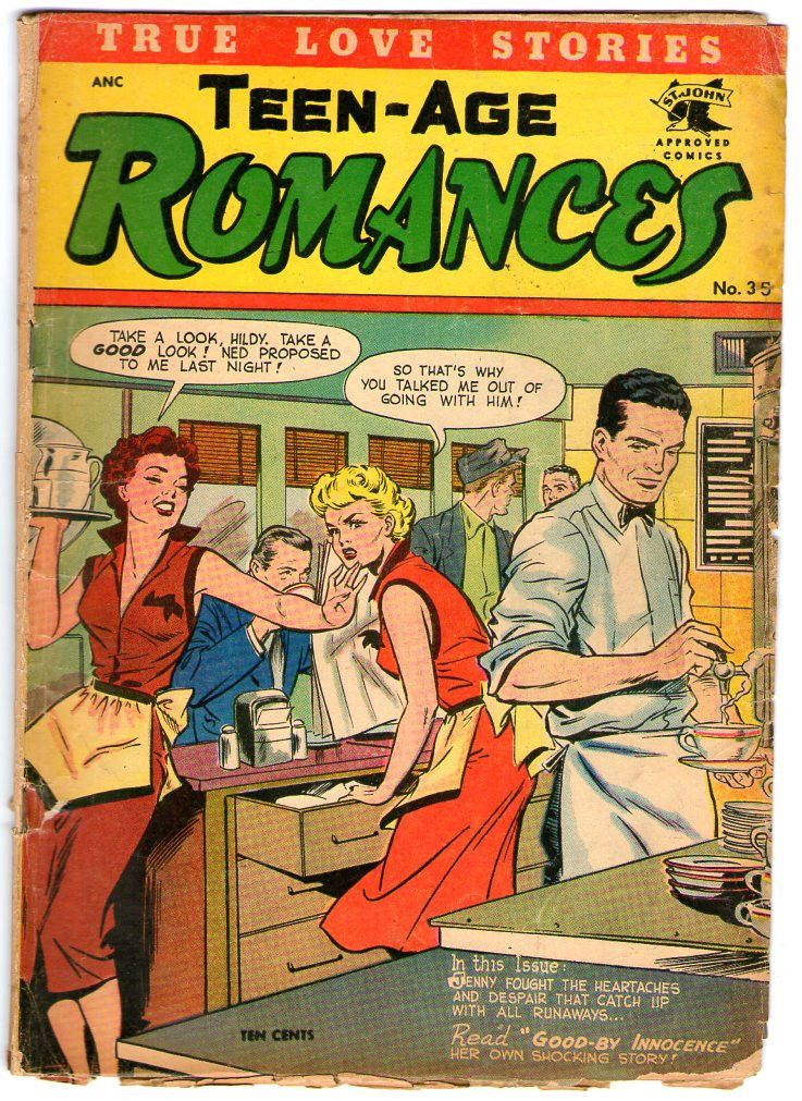 Image result for golden age romance comics