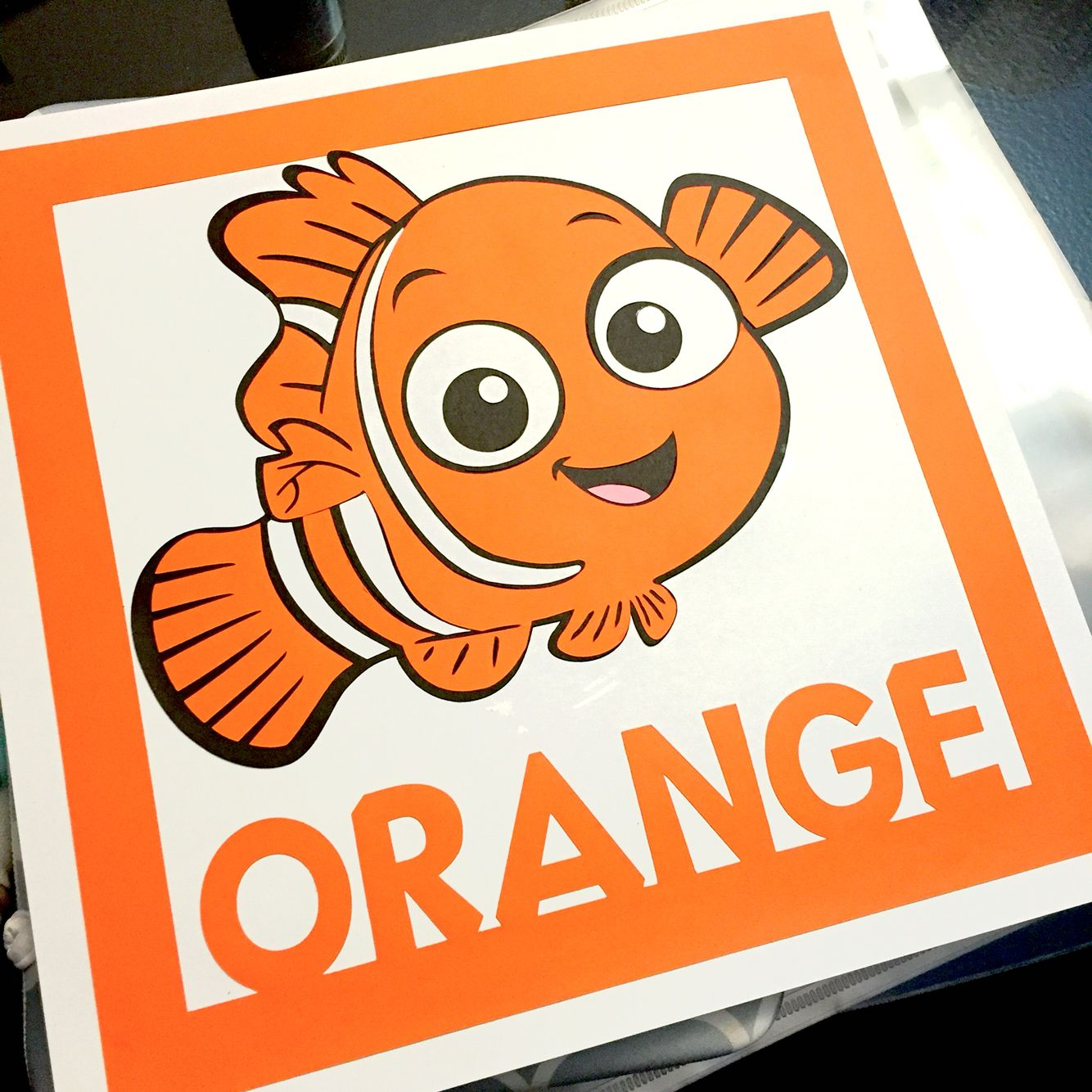 Teaching Colors Orange Finding Nemo From Disney Is