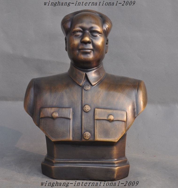 Crafts statue China Bronze Revolutionaries Great leader Mao Zedong - halloween statues