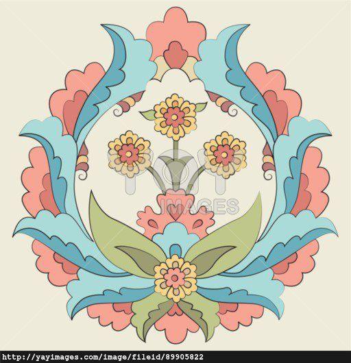 Ottoman art flowers fourteen version