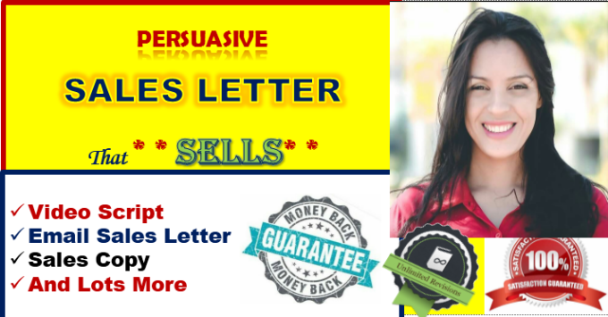 write a PERSUASIVE sales letter that compels to buy by branding_pro ...