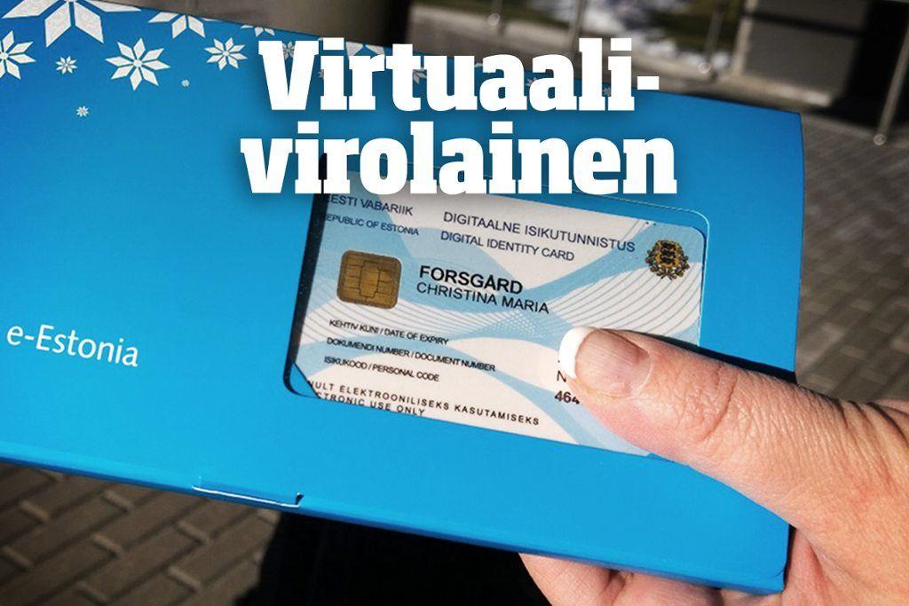 Virtuaalikansalaisen kortissa ei ole kuvaa, koska se on tehty vain sähköistä asiointia varten.